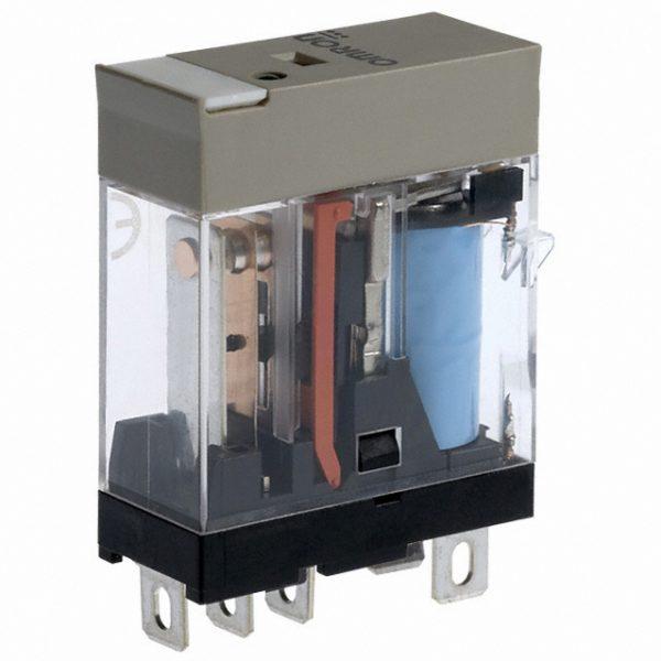 Relay 5 chân có đèn led DC12 G2R-1-SN DC12(S) BY OMB